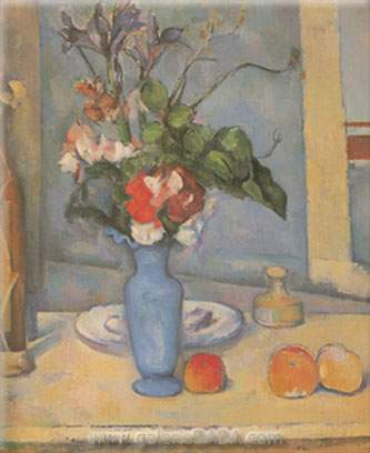 Paul Cezanne, Blue Vase Fine Art Reproduction Oil Painting