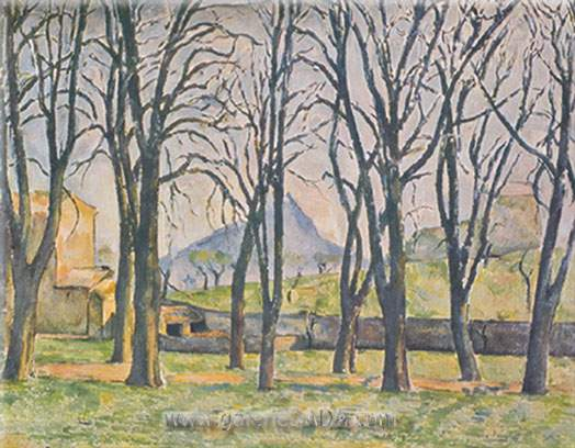 Paul Cezanne, Chestnut Trees at the Jas de Bouffan Fine Art Reproduction Oil Painting
