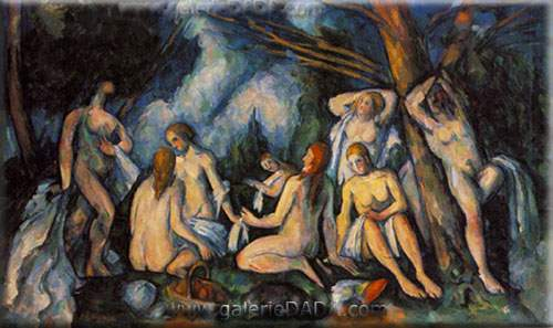 Paul Cezanne, Grandes Baigneuses Fine Art Reproduction Oil Painting