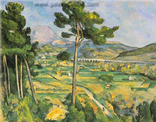 Paul Cezanne, Mont Sainte-Victoire Fine Art Reproduction Oil Painting