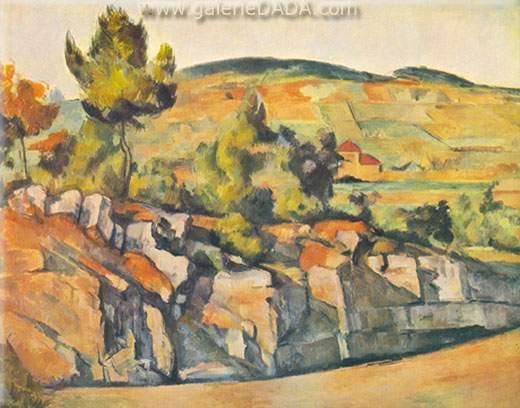 Paul Cezanne, Mountains in Province Fine Art Reproduction Oil Painting