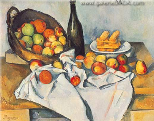 Paul Cezanne, Still-Life with Basket of Apples Fine Art Reproduction Oil Painting