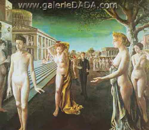 Paul Delvaux, Dawn over the City Fine Art Reproduction Oil Painting