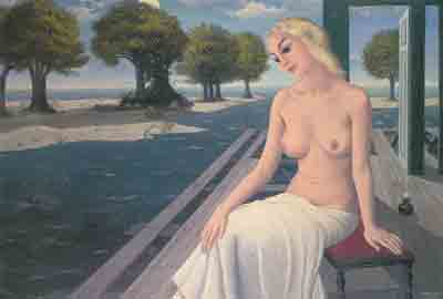 Paul Delvaux, The Island Fine Art Reproduction Oil Painting