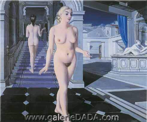 Paul Delvaux, The Stairs Fine Art Reproduction Oil Painting