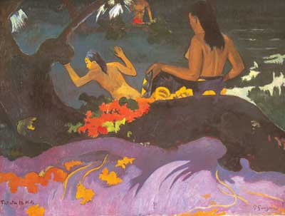 Paul Gauguin, Fatata Te Miti Fine Art Reproduction Oil Painting