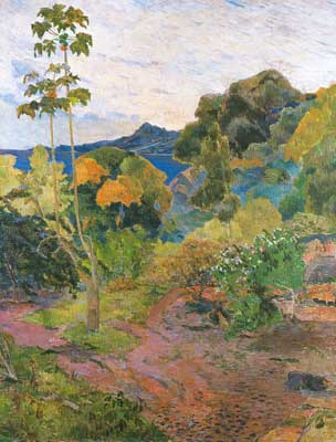 Paul Gauguin, Martinque Landscape Fine Art Reproduction Oil Painting