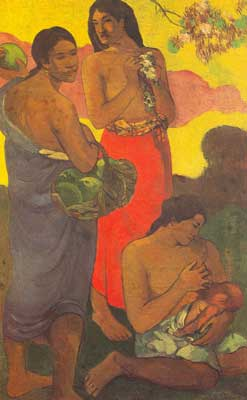 Paul Gauguin, Maternity Fine Art Reproduction Oil Painting