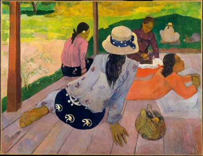 Paul Gauguin, The Siesta Fine Art Reproduction Oil Painting