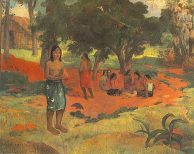 Paul Gauguin, Whispered Words Fine Art Reproduction Oil Painting