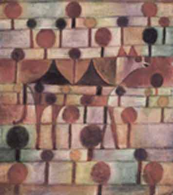 Paul Klee, Camel (in Rhythmic Landscape with Trees) Fine Art Reproduction Oil Painting