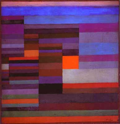 Paul Klee, Fire in the Evening Fine Art Reproduction Oil Painting