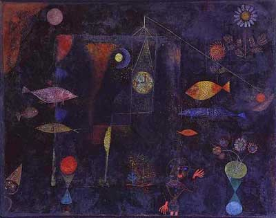 Paul Klee, Fish Magic Fine Art Reproduction Oil Painting