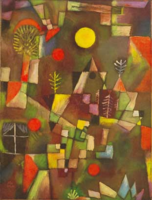 Paul Klee, Full Moon Fine Art Reproduction Oil Painting