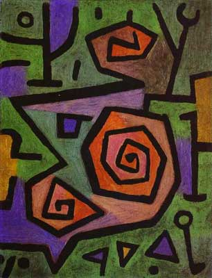 Paul Klee, Heroic Roses Fine Art Reproduction Oil Painting