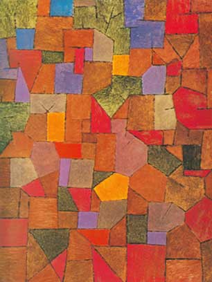 Paul Klee, Mountain Village (Autumnal) Fine Art Reproduction Oil Painting