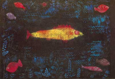 Paul Klee, The Goldfish Fine Art Reproduction Oil Painting