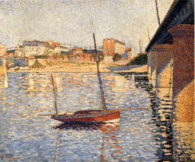 Paul Signac, A Clipper, Asnieres Fine Art Reproduction Oil Painting
