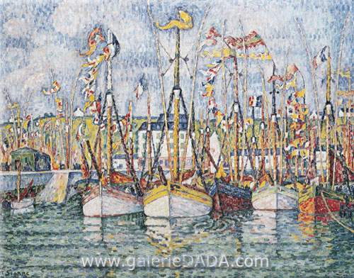 Paul Signac, Blessing of the Tuna Boats Groix Fine Art Reproduction Oil Painting