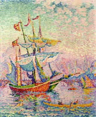 Paul Signac, Le Corne d Or, Le Pont Fine Art Reproduction Oil Painting