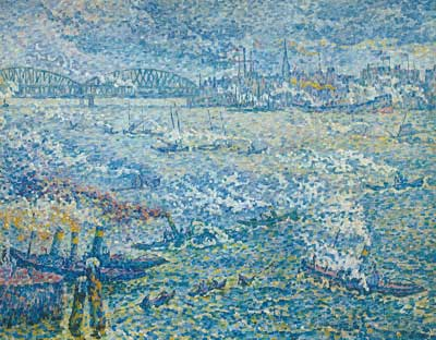 Paul Signac, Steamboats, Rotterdam Fine Art Reproduction Oil Painting
