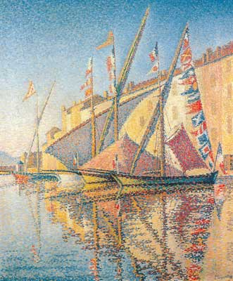 Paul Signac, Tartans with Flags Fine Art Reproduction Oil Painting