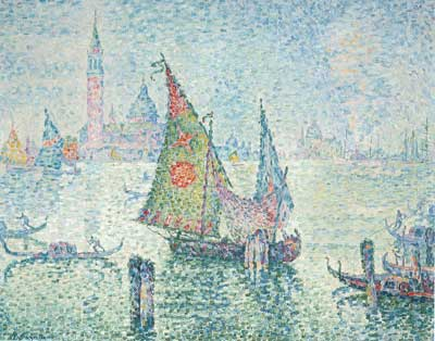 Paul Signac, The Green Sail, Venice Fine Art Reproduction Oil Painting