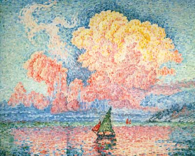 Paul Signac, The Pink Cloud, Antibes Fine Art Reproduction Oil Painting