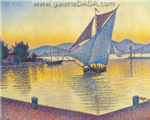 The Port at Sunset Saint Tropez Opus 236 - Paul Paul, Fine Art Reproduction Oil Painting