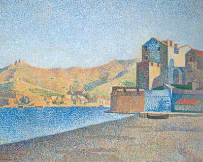 Paul Signac, The Town Beach, Collioure Fine Art Reproduction Oil Painting