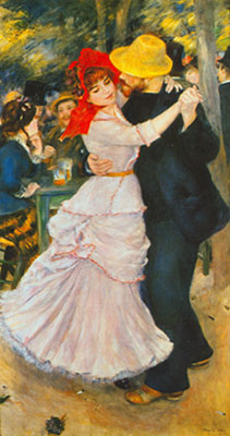 Pierre August Renoir, Dance at Bougival Fine Art Reproduction Oil Painting