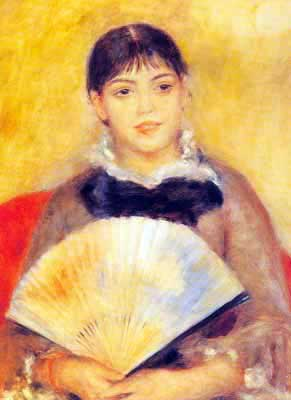 Pierre August Renoir, Girl with a Fan Fine Art Reproduction Oil Painting
