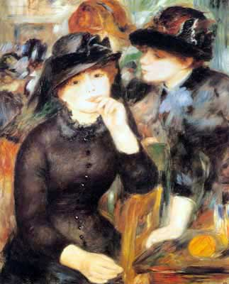 Pierre August Renoir, Girls in Black Fine Art Reproduction Oil Painting