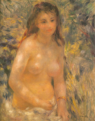 Nude in the Sunlight - Pierre August Pierre August, Fine Art Reproduction Oil Painting