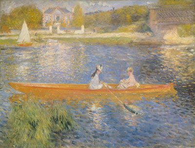 Pierre August Renoir, The Seine at Asnieres Fine Art Reproduction Oil Painting