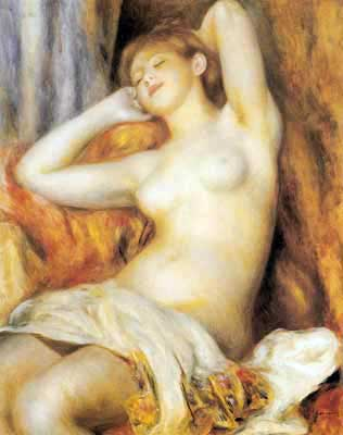 Pierre August Renoir, The Sleeper Fine Art Reproduction Oil Painting