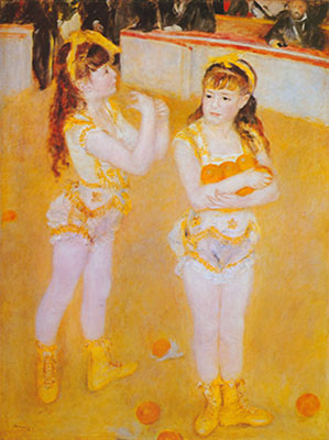 Pierre August Renoir, Two Little Circus Girls Fine Art Reproduction Oil Painting