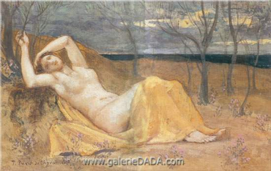 Pierre Puvis de Chavannes, Tamaris Fine Art Reproduction Oil Painting
