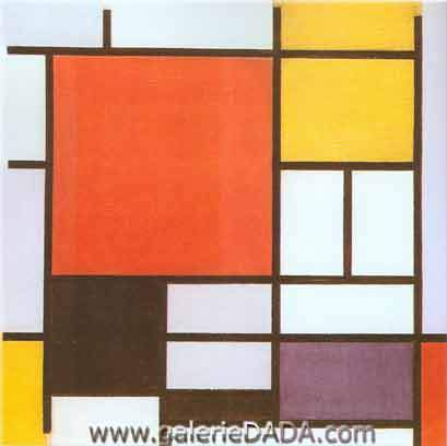 Piet Mondrian, Composition with Red Yellow Blue and Black Fine Art Reproduction Oil Painting