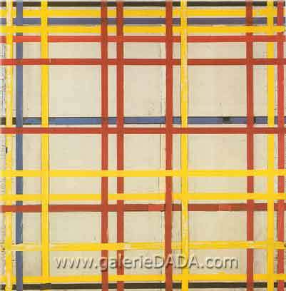 Piet Mondrian, New York City II Fine Art Reproduction Oil Painting
