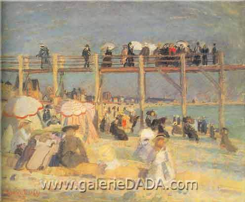 Raoul Dufy, Beach at St Adresse Fine Art Reproduction Oil Painting