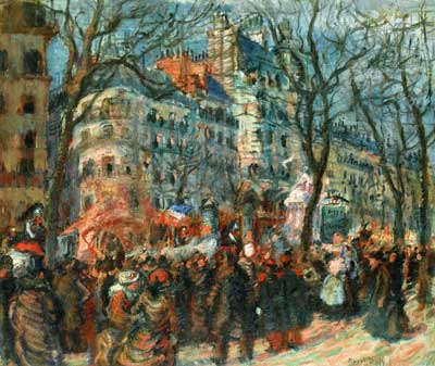 Raoul Dufy, Carnival on the Grands Boulevards Fine Art Reproduction Oil Painting
