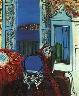 Raoul Dufy, Open Window, Nice Fine Art Reproduction Oil Painting