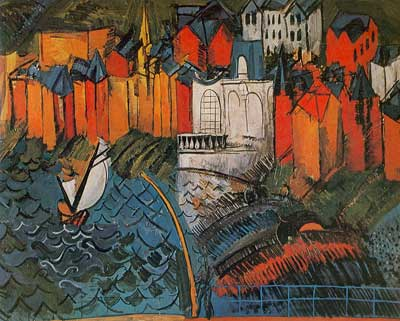 Raoul Dufy, Sailboat at Sainte-Adresse Fine Art Reproduction Oil Painting