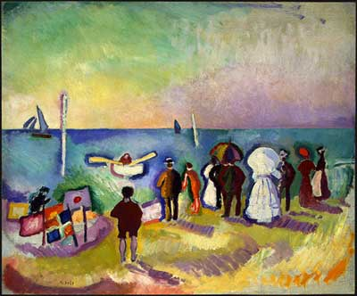 Raoul Dufy, The Beach at Sainte-Adresse Fine Art Reproduction Oil Painting