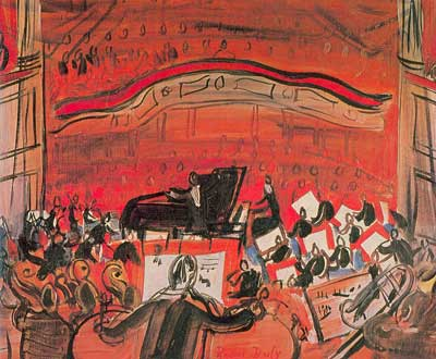 Raoul Dufy, The Red Concert Fine Art Reproduction Oil Painting