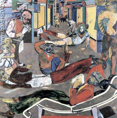 R.B. Kitaj, Cecil Ct London WC2 (The Refugees) Fine Art Reproduction Oil Painting