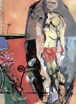 R.B. Kitaj, The Neo-Cubist Fine Art Reproduction Oil Painting