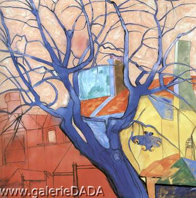 R.B. Kitaj, The Oak Tree Fine Art Reproduction Oil Painting