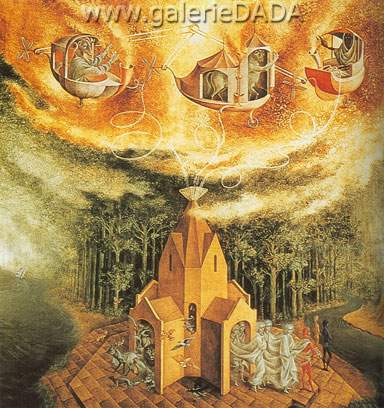 Remedios Varo, Microcosm Fine Art Reproduction Oil Painting